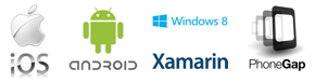 iOS, Android, Windows 8, Xamarin, PhoneGap